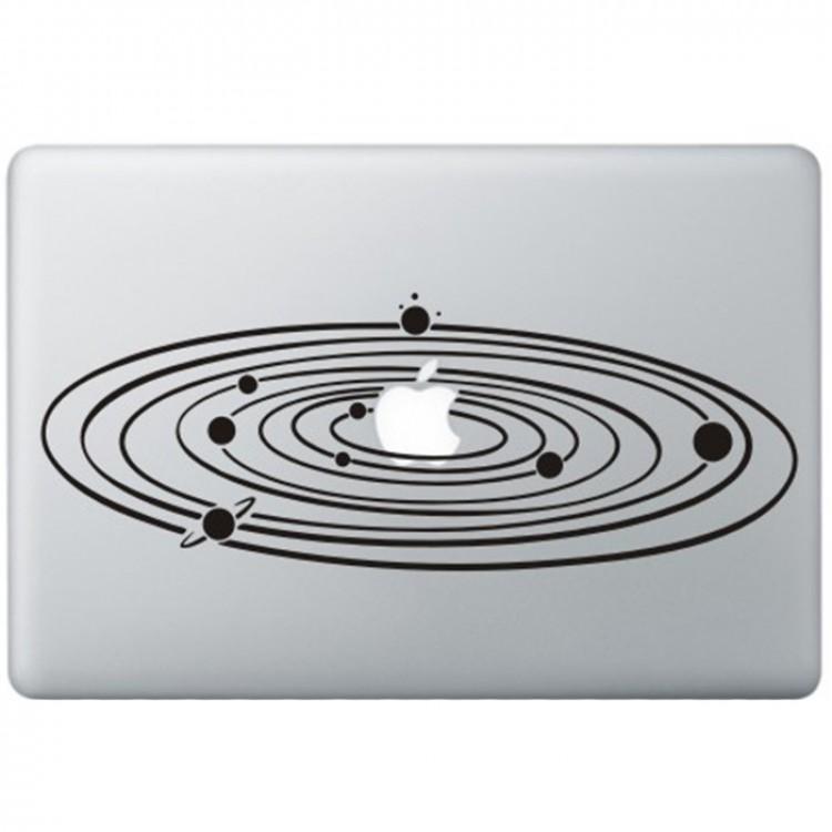 Milky Way MacBook Sticker Zwarte Stickers