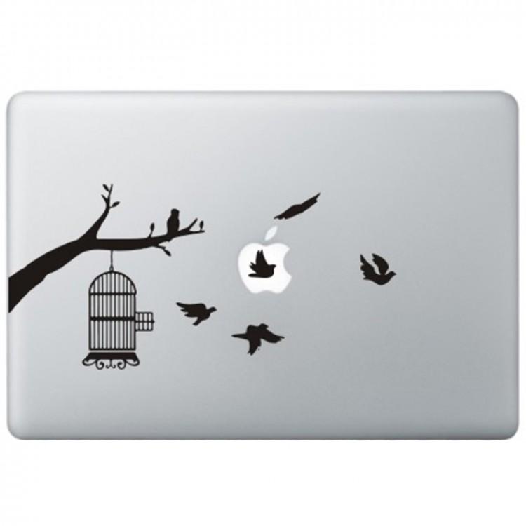 Vogels MacBook Sticker Zwarte Stickers