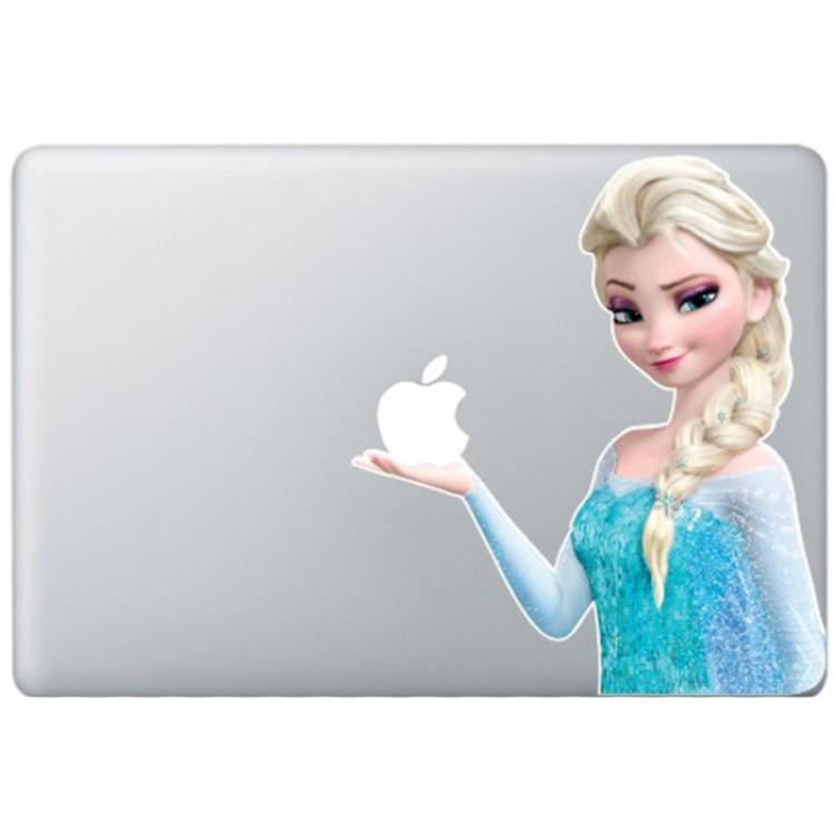 Elsa Frozen MacBook Sticker Gekleurde Stickers