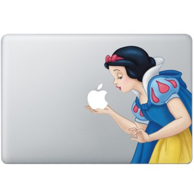 Sneeuwwitje Kleur (2) MacBook Sticker