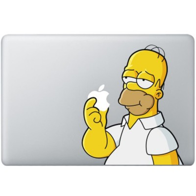 Homer Simpsons MacBook Sticker Gekleurde Stickers