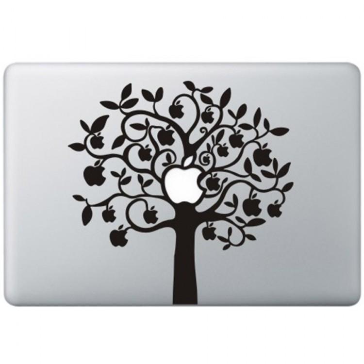 Apple Boom (2) MacBook Sticker Zwarte Stickers