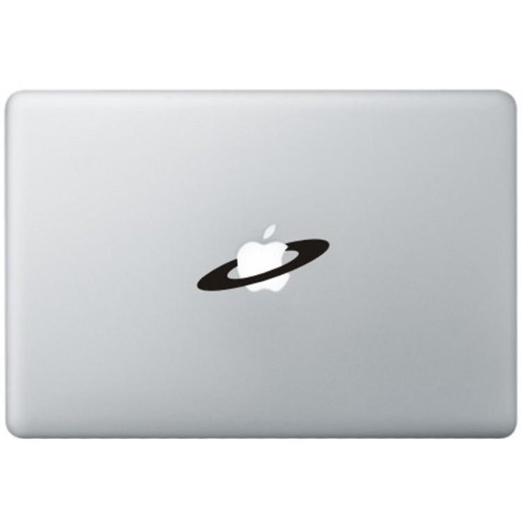 Apple Space MacBook Sticker Zwarte Stickers
