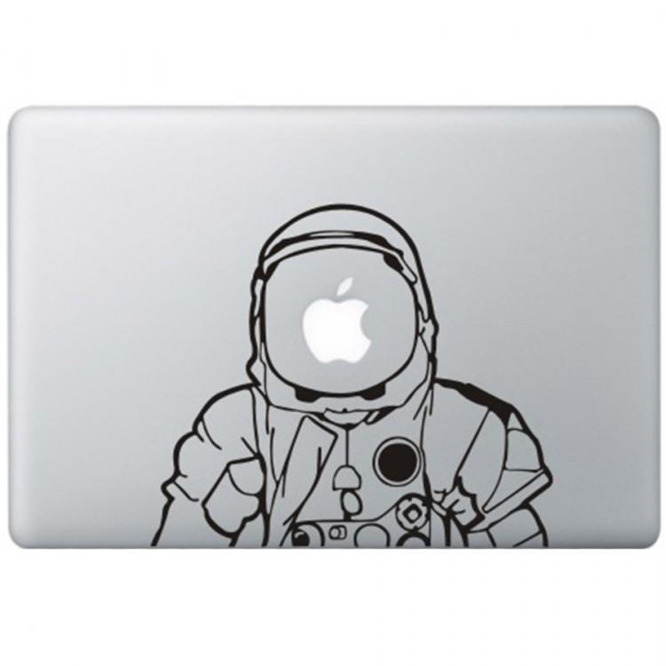 Astronaut MacBook Sticker Zwarte Stickers