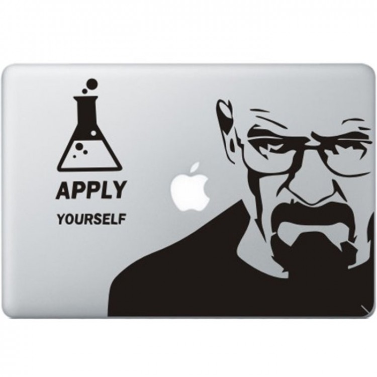 Breaking Bad MacBook Sticker Zwarte Stickers