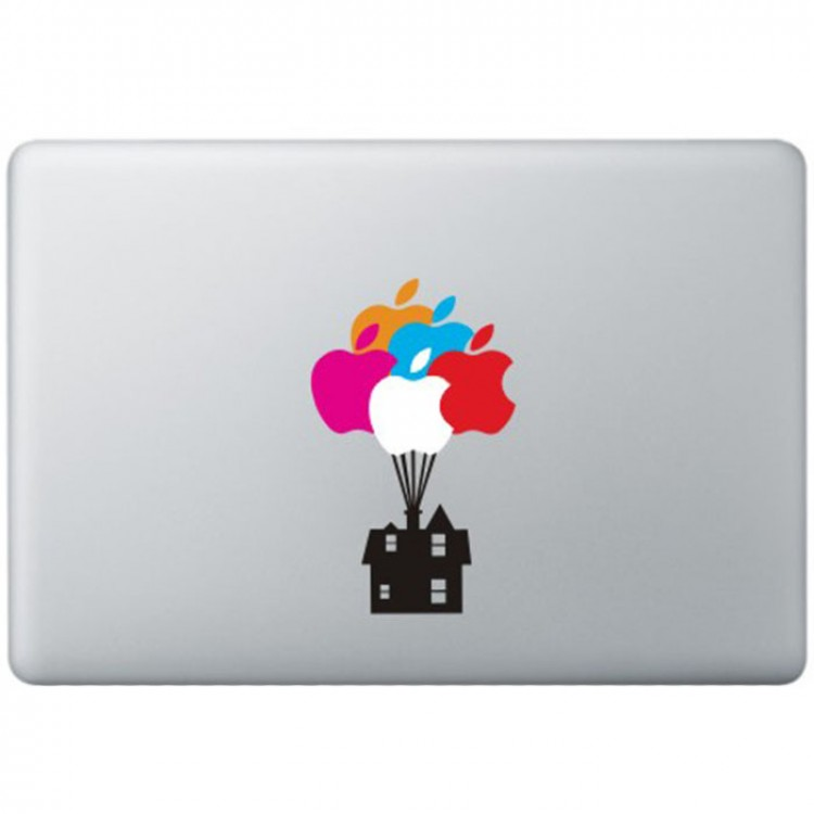 Ballonnen Huis UP MacBook Sticker Gekleurde Stickers