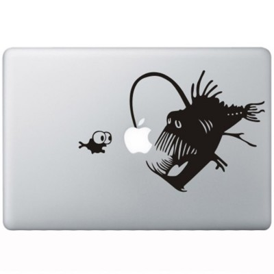 Koraal Duivel MacBook Sticker Zwarte Stickers