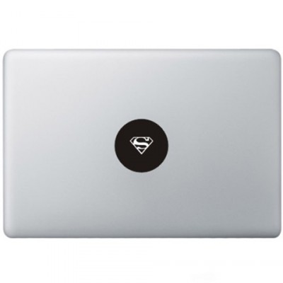 Superman Logo Macbook Decal Zwarte Stickers