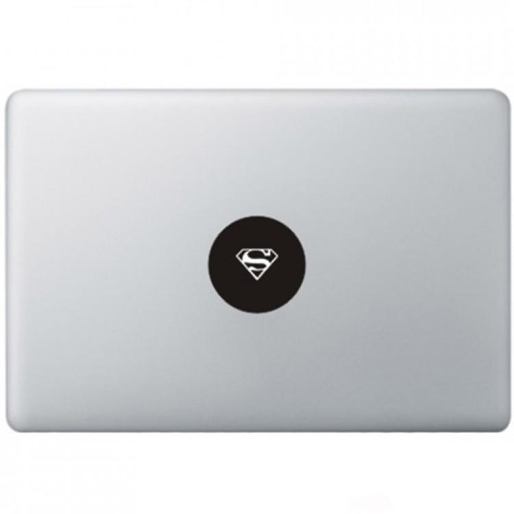 Superman Logo Macbook Decal Zwarte Stickers