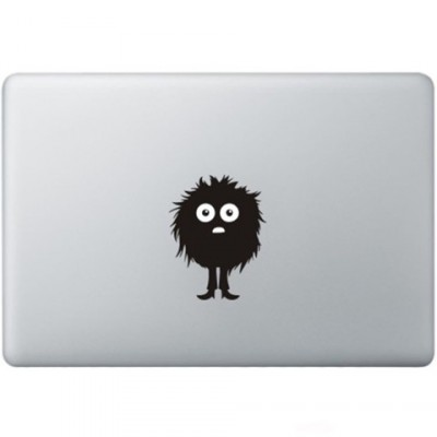 Fuzzy Guy Macbook Decal Zwarte Stickers