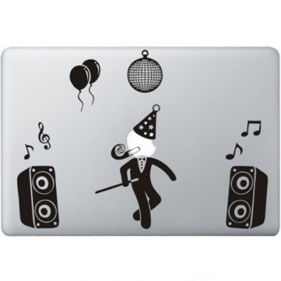 Party Guy Macbook Decal Zwarte Stickers