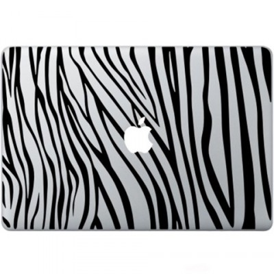 Zebra Print Macbook Decal Zwarte Stickers