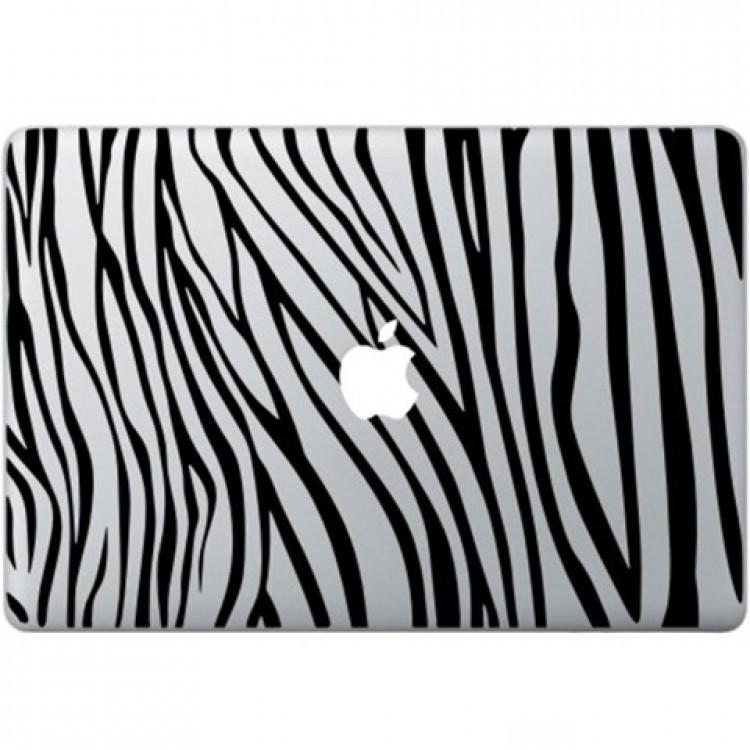 Zebra Print Macbook Decal Zwarte Stickers