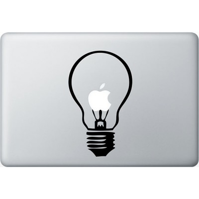 Lamp MacBook Sticker Zwarte Stickers