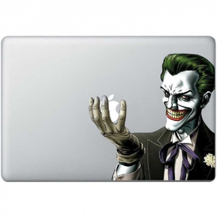 Batman Joker Kleur MacBook Sticker Gekleurde Stickers