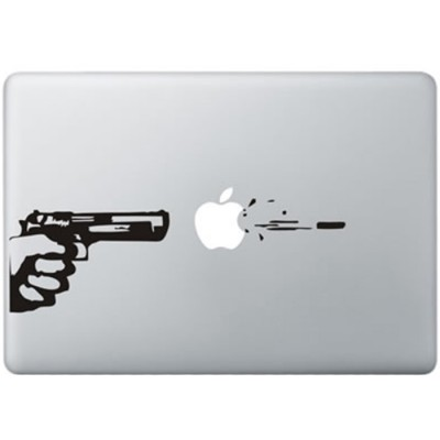 Gun Shot MacBook Sticker Zwarte Stickers