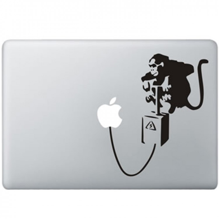 Banksy Aap MacBook Sticker Zwarte Stickers