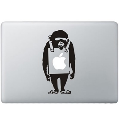 Banksy Verdrietige Aap MacBook Sticker