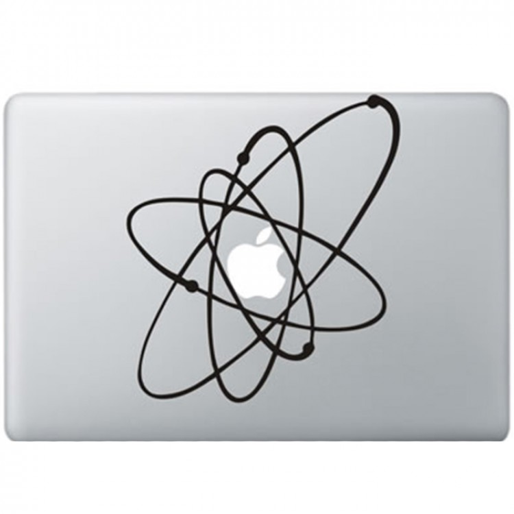 Atoom MacBook Sticker Zwarte Stickers